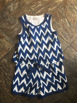 Grils Next navy tie dye play suit age 9