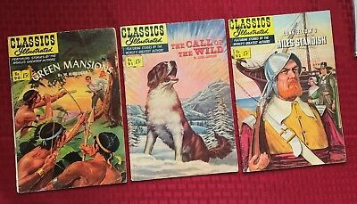 Classics Illustrated lot  #90, 91, 92 [O] - Green Mansions, etc (1951,) all 1st