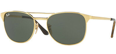 Ray-Ban Signet Men's Gold Modern Pilot Sunglasses RB3429M 001 - Made In Italy