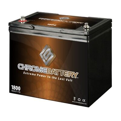 12V 80Ah AGM Battery for Solar Wind Deep Cycle. Chrome Battery. Best Price