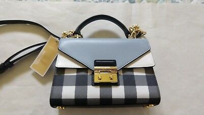 8dfc84e46f96 Michael Kors Sloan Gingham Small Top-Handle Satchel with adjustable strap  NWT
