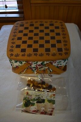 Longaberger Checkers Basket COMPLETE