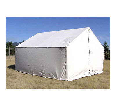 NEW!!! 12X14X5FT 12.5OZ Magnum Canvas Wall Tent + Angle Kit for DIY ...