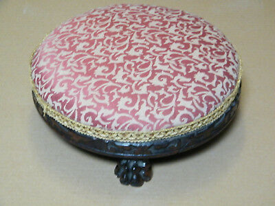 Victorian  footstool with beautiful wooden legs