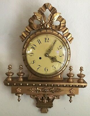 Swedish Gold Gustavian Style Wall Clock