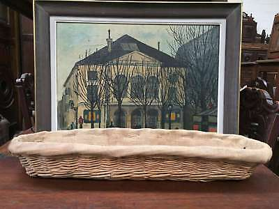 Antique French Baguette Bread Basket Large Wicker - FF019b