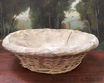 Antique French Bread Basket Rare Wicker Kitchen Cooking Per Each - QN566abcd