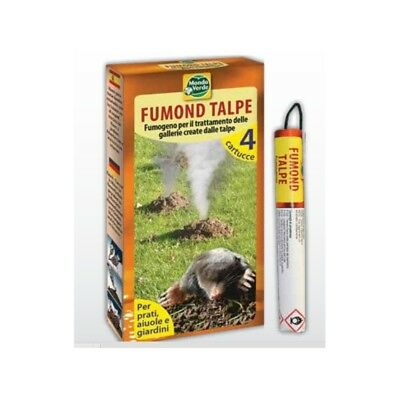 4 x Smoke cartridge Professional Blind moles Mole Repellent  50 m2 Tunnels