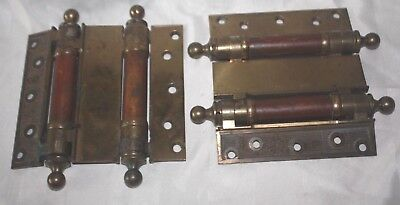 PAIR of LARGE VINTAGE VICTORIAN ERA DOUBLE HINGES  Pat. Dec 9,1884