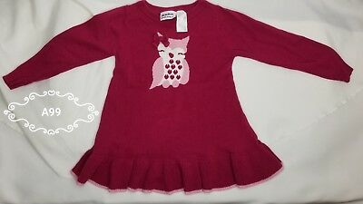 Girls Size 4t Owl Sweater (A99)
