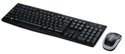 Logitech MK270R Wireless Full Size Keyboard Mouse Combo USB Free Shipping