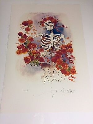 """Grateful Dead Stanley Mouse  LE/500 Oversized Print  RARE!! """" Bones And Roses"""""""