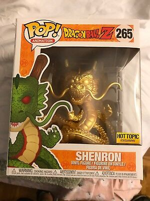 Funko Pop! Animation DragonBall Z Gold Shenron Hot Topic Exclusive Figure #265