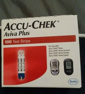 Brand new in box Accu-chek aviva plus 100 test strips Ex 11/30/2019