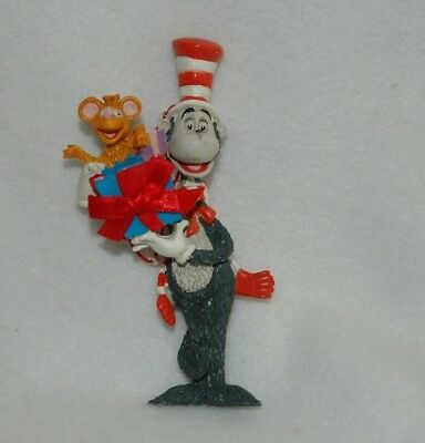 Dr. Seuss Cat in the Hat with Present Christmas Ornament 1997