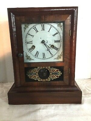 Charming Antique William L Gilbert 30 Hour Cottage Clock - Working 1870!