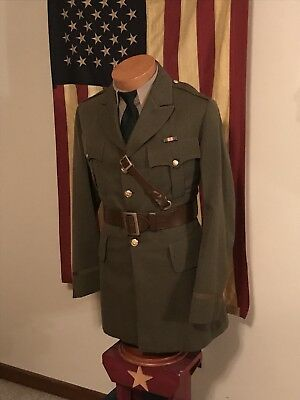 WWII US ARMY Cavalry Officers Uniform with Sam Browne Belt