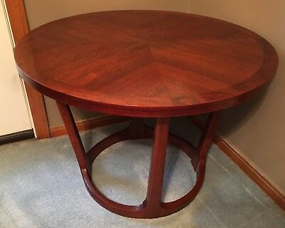 Lane Rhythm Round Drum Table 997-22 Mid Century Modern Danish Adrian Pearsall