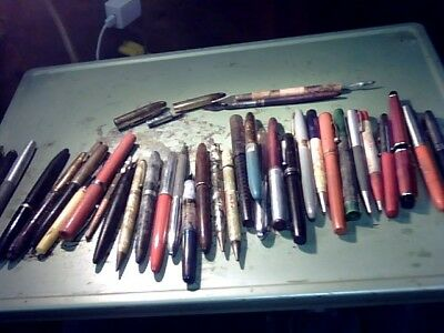 Vintage Lot Of Old Fountion Pens, Sheaffers, Parts Repair N/r