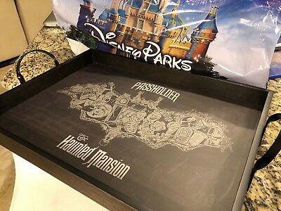 Disney's HAUNTED MANSION PASSHOLDER Exclusive Wooden Serving Tray