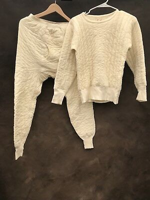 Vintage 50s Penneys Towncraft Long Winter Underwear Top And Bottom Medium Small