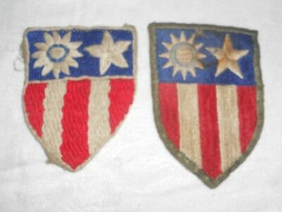 2 AVG FLYING TIGERS PATCHES, Very Old from Collection