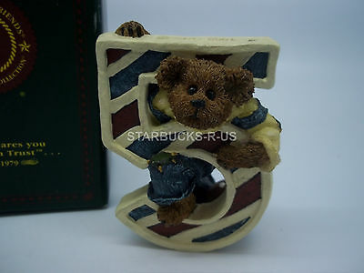 Boyds Bears New Age 5 Number L T. Beanster Resin Child Gift With Box