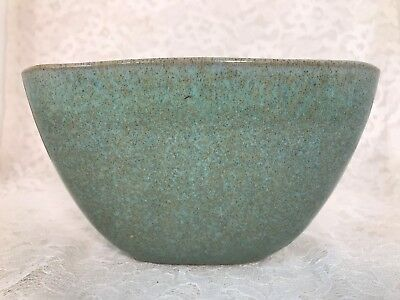 Vintage Glidden Pottery Mid Century Modern Turquoise speckled Planter #15