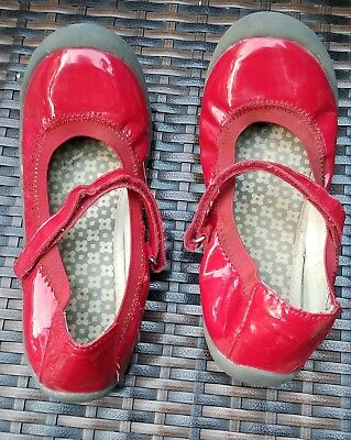 Hannah Andersson Red Patent Stretch Maryjane Shoes 4