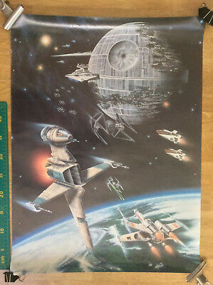 STAR WARS FAN CLUB POSTER rare1983 official movie poster Death Star sci-fi