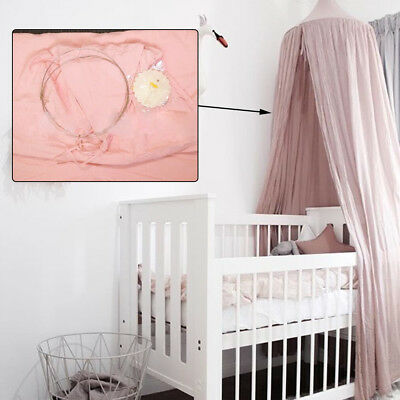 New Bed Decor Round Bedcover Mosquito Curtain Bedding Round Dome Cotton Net Pink