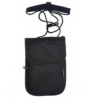 1Pc Secure Passport Neck Pouch Money Cord Clothes Wallet Organizer Holder Bag