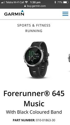 Brand NEW Garmin Forerunner 645 Music -  Black
