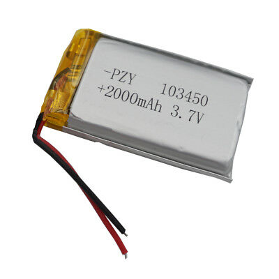 3.7v 2000 mah Polymer Li ion Lithium cells 103450 for MID ipod PAD MP4 Tablet PC
