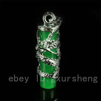 New Chinese Exquisite Malay jade Pendant Green Dragon lucky