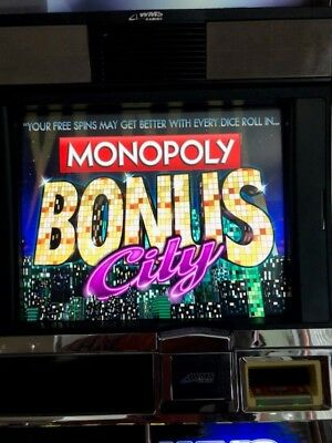 WMS MONOPOLY BONUS CITY! Software BB2 Slot Machine Williams Bluebird 2 Game