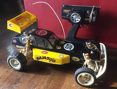 "Vintage TEAM ASSOCIATED RC10 Remote Control Car #6010 GOLD PAN ""A"" With Box"