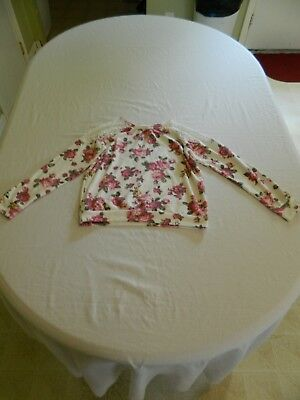 Forever 21 girls Floral Long Sleeve Shirt  Size 9-10 (fits like a 8)