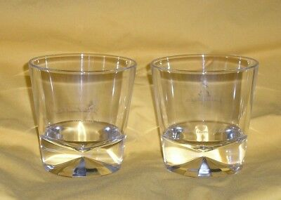 Johnnie Walker Walking Man Diamond Base Rocks Glass - Set of 2