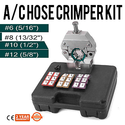 71550 Manually Operated A/C Hose Crimper Tool Kits w/ 4 Dies Crimping Fittings