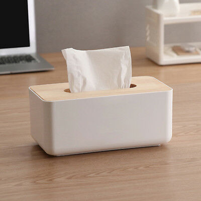 Tissue Box Holder Cover Dispenser Grey Toilet Bathroom Home Fancy Design