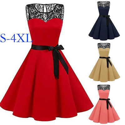 00d9de0f47c07 VINTAGE 50S SLEEVELESS Retro Style Rockabilly Pinup Housewife Party ...