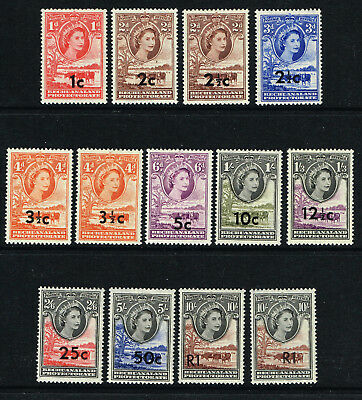 BECHUANALAND PROTECTORATE 1961 QE II SET VERY FINE LMM OR MNH SG157-167b