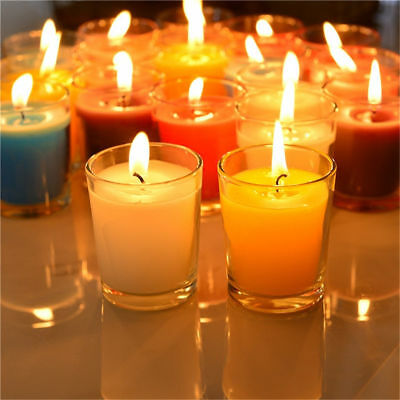 36pcs Clear Stylish Glass Votive Candle Tea Light Holder Romantic Party Decor AU