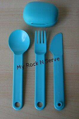 Tupperware Snap Together Silverware Spoon/ Fork/Knife  Set  New