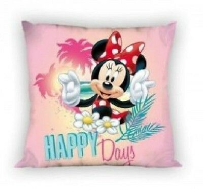 NEW LICENSED Disney MINNIE Mouse Happy Days cushion cover 40x40cm 100% COTTON