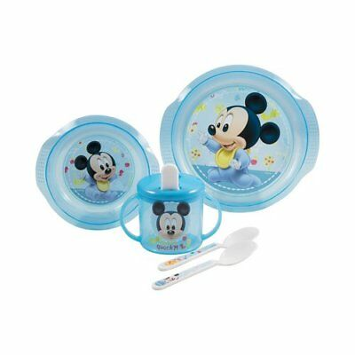 BABY-WALZ 5tlg. Esslern-Set Mickey Mouse Babygeschirr NEU Mickey Mouse