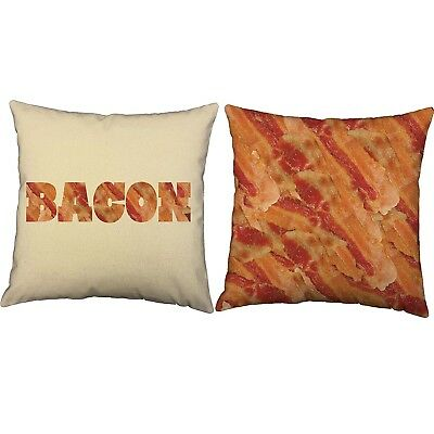 (41cm  x 41cm  - Covers Only, Bacon - Natural Indoor) - Set of 2 RoomCraft