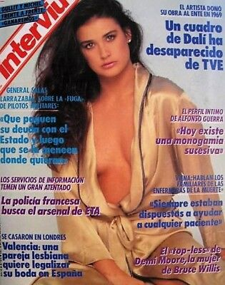 INTERVIU 675 / DEMI MOORE 6 Pages Great Pictorial !!! - EX