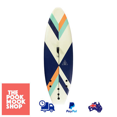 165cm Surfboard Assorted Kids Square-Tailed Tri-Fins Surfing Boards Long, Paddle